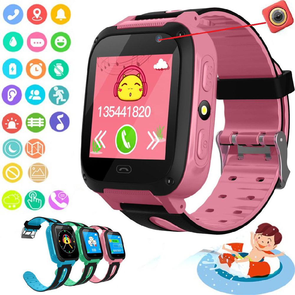 Studyset Anti-lost Kids Safe GPS Tracker SOS Call GSM Smart Watch Phone for Android IOS