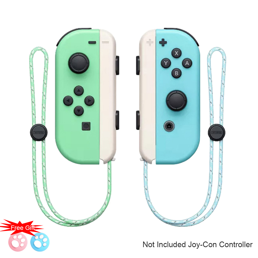 1 Pair Animal Crossing Nintend Switch Joy Con Wrist Strap Band Hand Rope Lanyard for Nintend Switch Game Joy-Con Controller