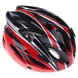 Rowerowy kask rowerowy sport ultralekka forma z daszkiem dla dorosłych (czarny + czerwony)
