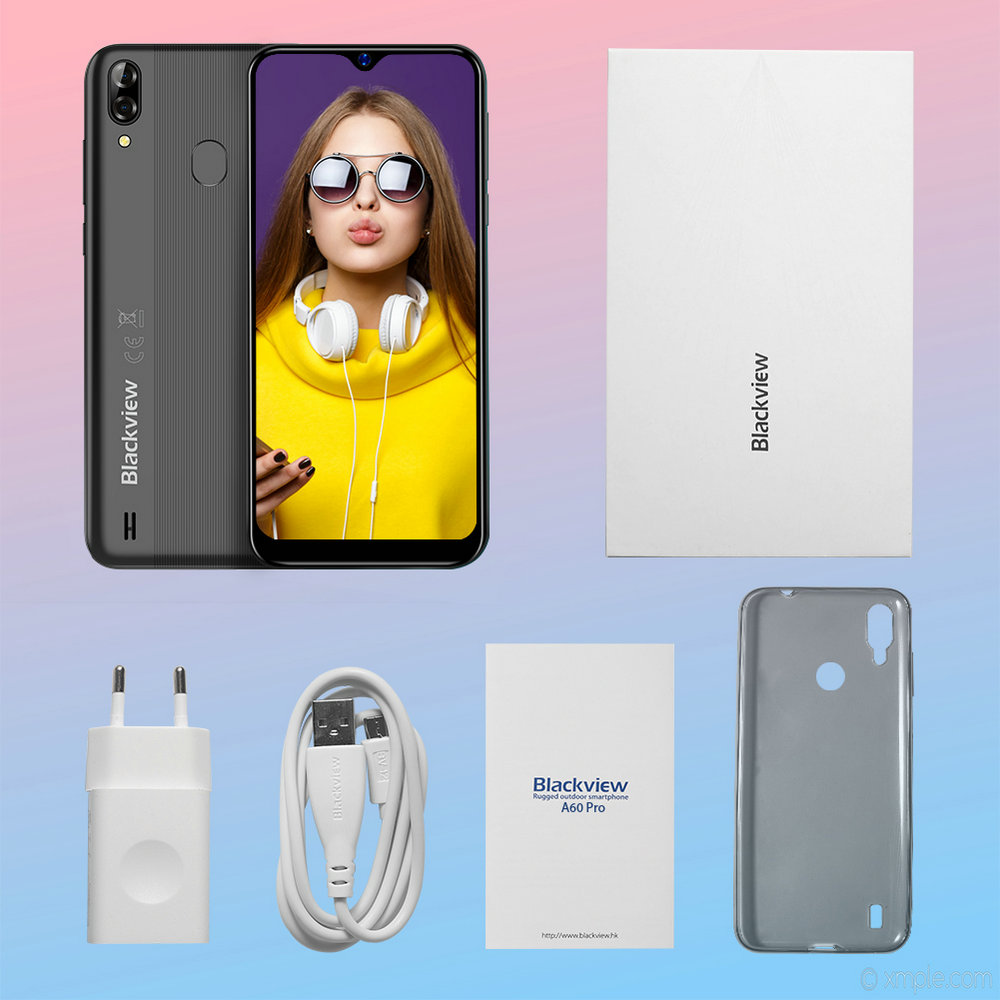 Image 5 - Blackview A60 Pro Original Smartphone 3GB+16GB MT6761V Cellphone Android 9.0 Waterdrop Screen 4080mAh Touch ID 4G Mobile Phone-in Cellphones from Cellphones & Telecommunications