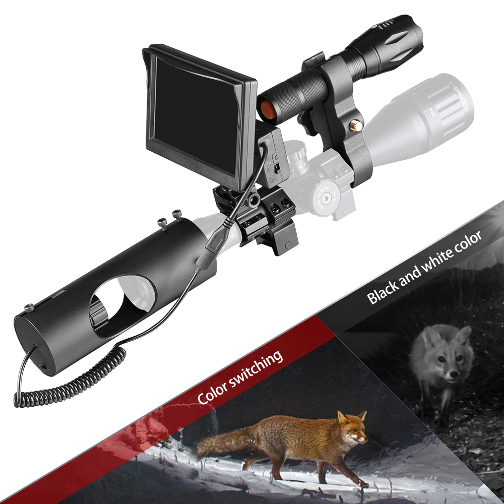 850nm Infrared Camera Night Vision Scope Optics Tactical 492 Ft Laser IR Wild Trail Camera  Device Hunting 5.0 Inch Display