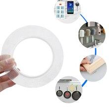 Многоразовая двусторонняя клейкая бесследная лента съемный стикер моющийся клей для домашнего улучшения многоразовая прозрачная лента