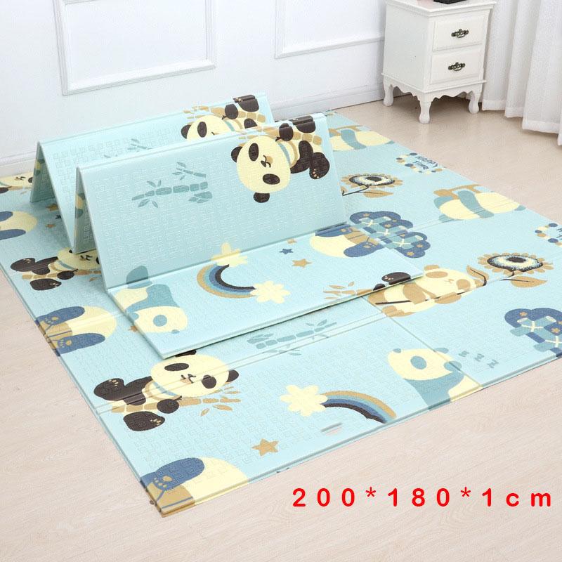 200*180cm Foldable Cartoon Baby Play Mat Xpe Puzzle Children's Mat Baby Climbing Pad Kids Rug Baby Games Mats(China)