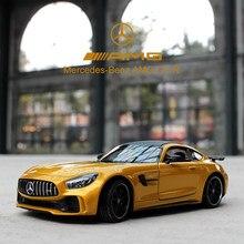 Welly 1:24 Mercedes-Benz Amg Gt Sport Auto Simulatie Legering Model Auto Ambachten Decoratie Collectie Speelgoed Gereedschap Gift