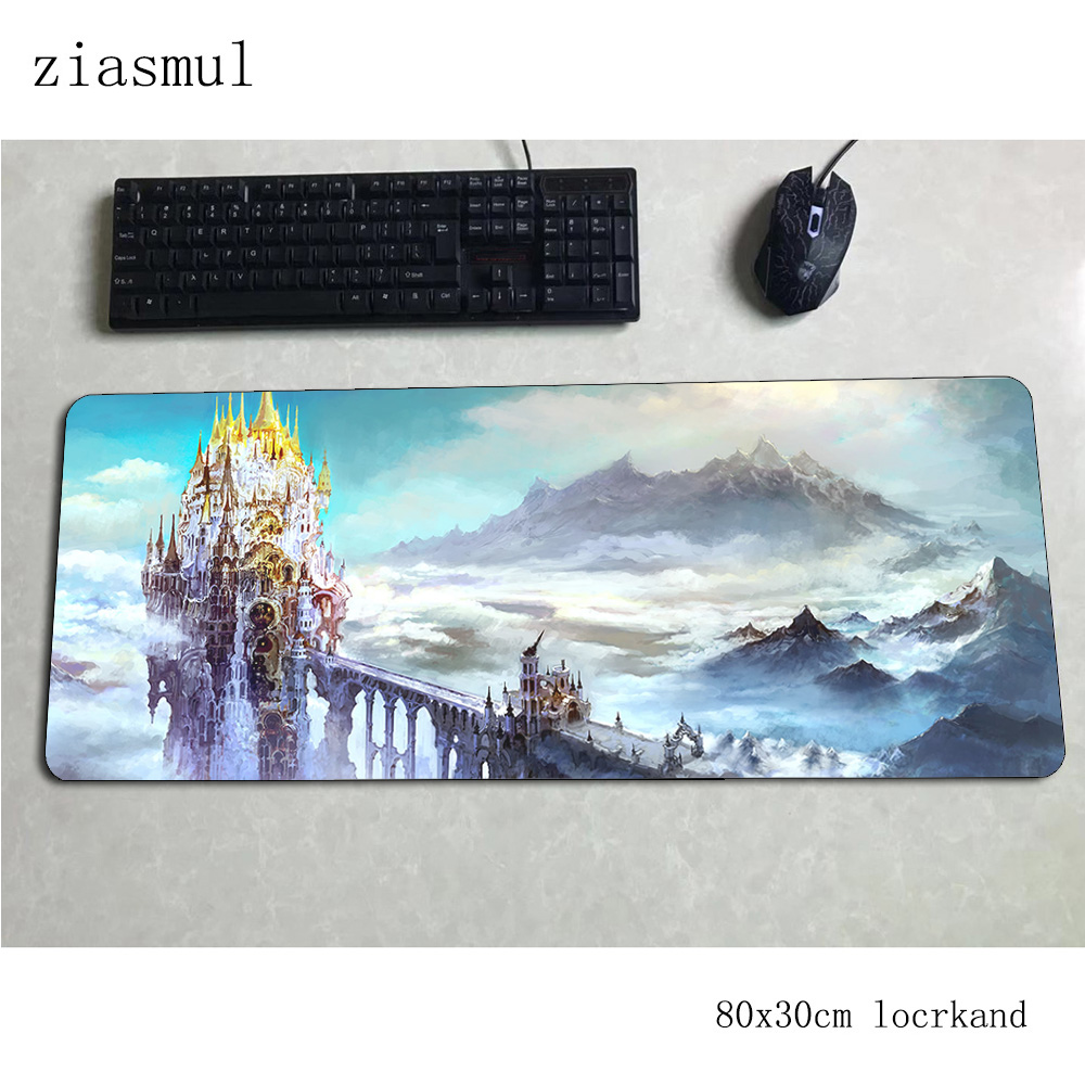 final fantasy xiv mouse pad 80x30cm mats 3d Computer mouse mat gaming accessories xl large mousepad keyboard games pc gamer image
