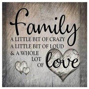 Любовь и семья полная дрель Алмазная картина Алмазная вышивка полная Алмазная распродажа фотографии Стразы рукоделие