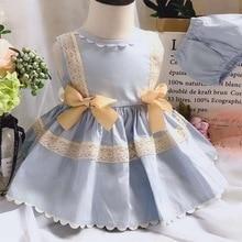 2 uds. Vestido de fiesta de princesa de Lolita español Vintage sin mangas para primavera y verano para niña, fiesta de cumpleaños de Pascua informal