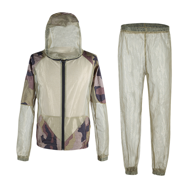 Bug Jacket Hood Mosquito Repellent Net Clothing Insect-Proof Netting Suit