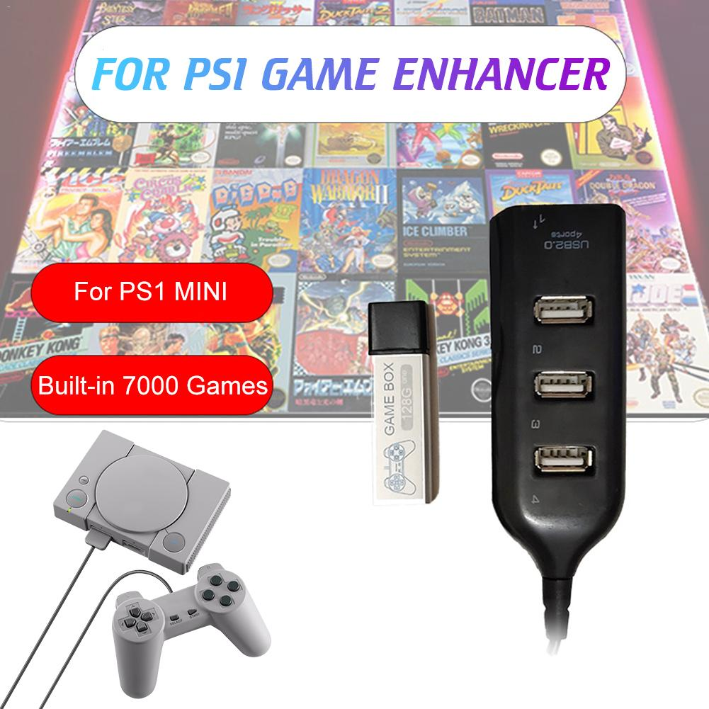 Game Enhancer Plug Games Crackhead Pack For Playstation Accessories Built-in 7000 Games For True Blue Mini PS1