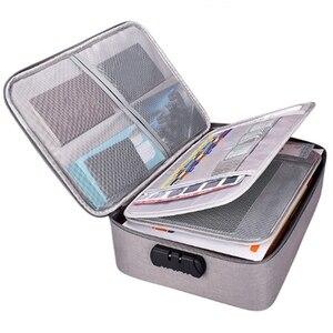 Image 3 - Belge bilet çantası büyük kapasiteli sertifikaları dosyaları organizatör ev seyahat kullanımı için saklamak için önemli ürünler