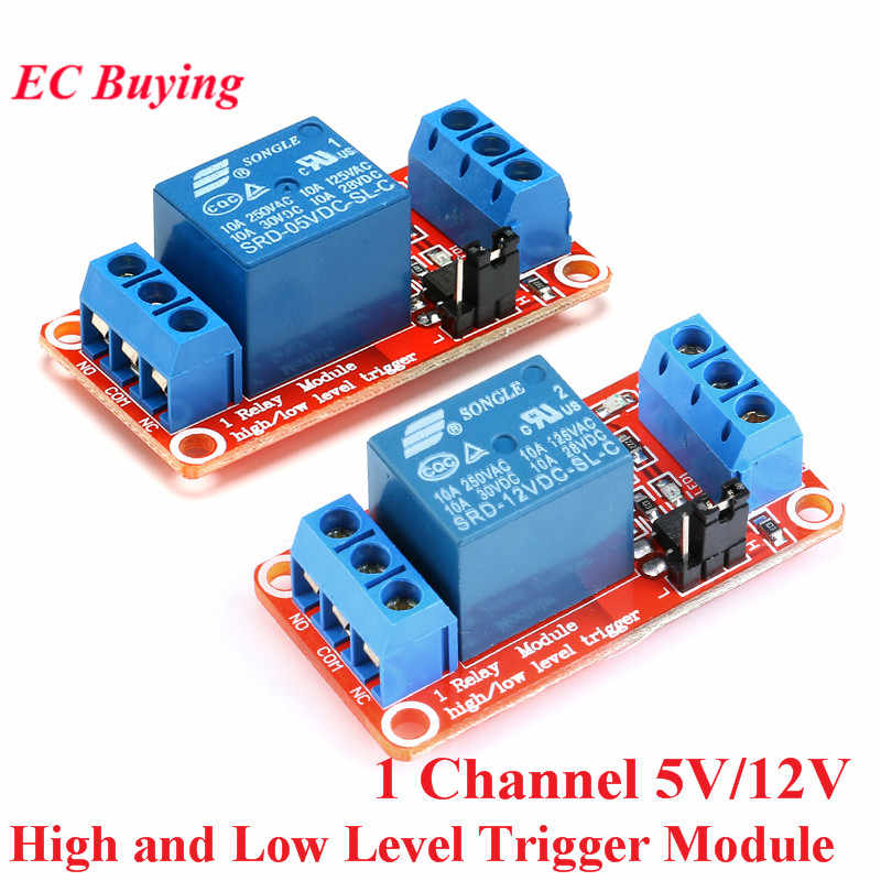 One 1 Channel Way 5V 12V Relay Module Board Shield for Arduino with Optocoupler Support High and Low Level Trigger Relay Module
