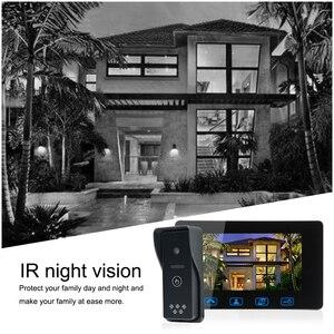 Image 5 - โทรศัพท์ประตูแบบมีสาย 7 สี LCD กันน้ำกล้อง IR Night Vision ระบบอินเตอร์คอม