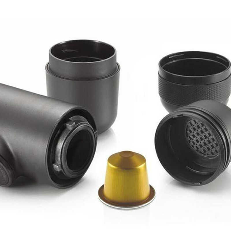 手動コーヒーメーカーハンド圧力ポータブルカプセルのコーヒーマシンネスプレッソカプセル