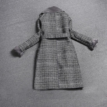 Fashion Vintage Plaid Wool Coat  4