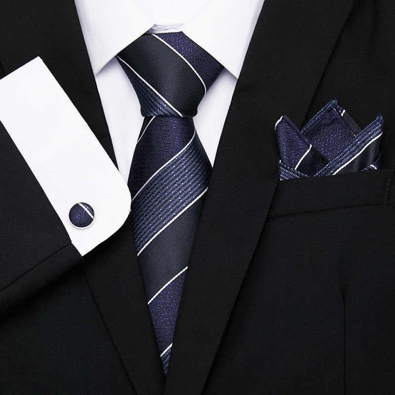 جديد الموضة الكلاسيكية الصلبة عادي براون الرجال التعادل الجيب ساحة أزرار أكمام مجموعة أسود أزرق أخضر رباط عنق من الحرير دعوى الزفاف الأعمال