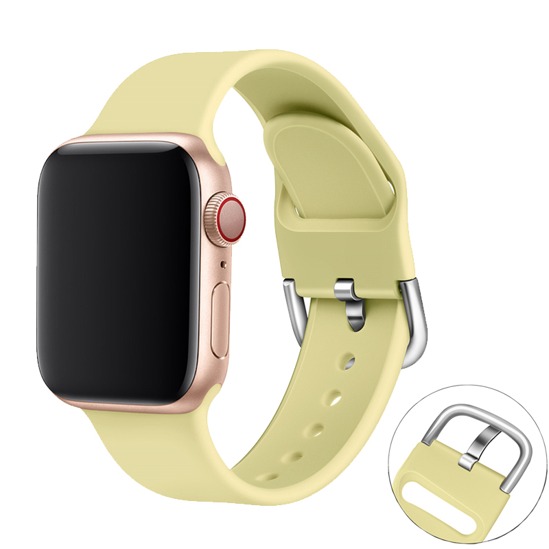 watch Accessories for apple watch band 42mm 38mm 44mm 40mm iwatch strap apple watch bracelet 5/4/3/2/1 sport silicone watchband