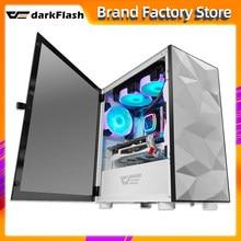 Darkflash DLM21 masaüstü bilgisayar kasası gabinete pc oyun completo küçük mini matx/itx htpc şasi temperli cam oyun pc kasa