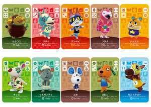 Image 5 -  Card NS Game Series 3 (241 to 280) Animal Crossing Card Work for