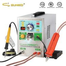 SUNKKO 709AD + zgrzewarka punktowa do baterii 3.2KW automatyczne wykrywanie spawanie impulsowe akumulator litowy taśmy z niklu maszyna do zgrzewania punktowego