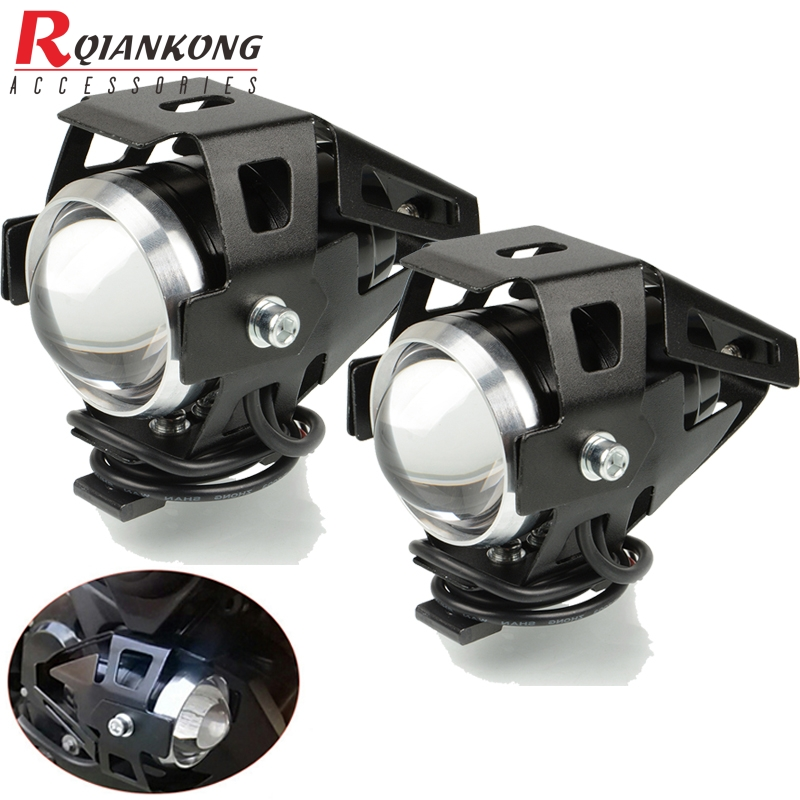 Universal Motorcycle <font><b>LED</b></font> Headlight Chip U5 Motorbike Driving Spotlight Moto For BMW <font><b>R1200RT</b></font> S1000XR S1000RR S1000R F800GT K1600G image