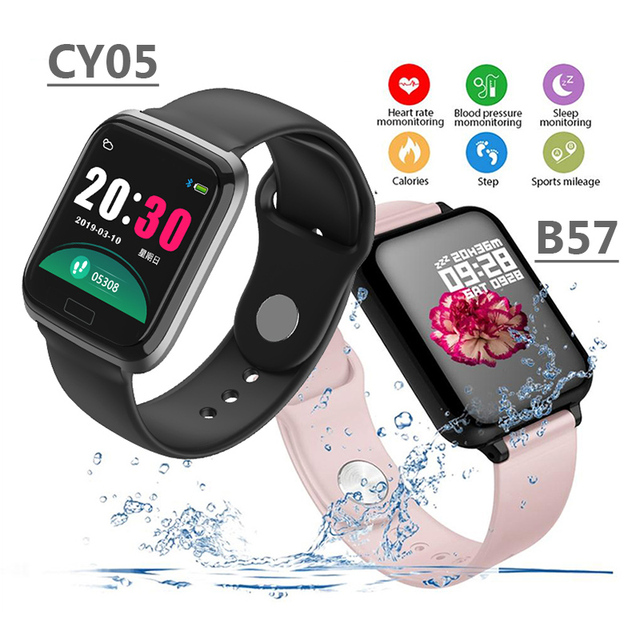 B57 Smart Watch Men Women Heart Rate Blood Pressure Sleep Monitor Step Counter Waterproof Fitness Tracker Watch for Android iOS