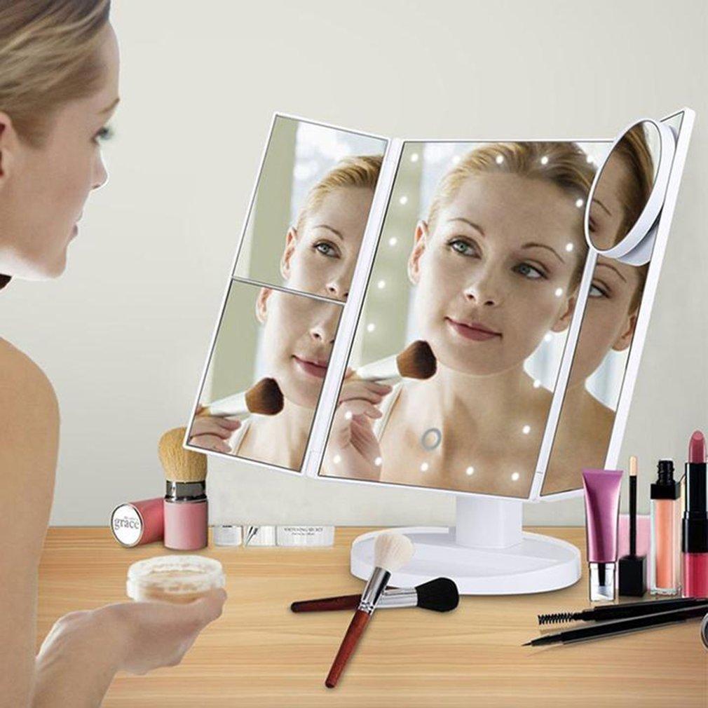 Levou Espelho de Maquiagem Com 10x Lupa