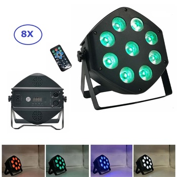 LED Par Light RGBW 9X10W Disco Wash Light DJ Equipment 7 Channel DMX 512 LED Uplights Stage Lighting Effect Party Lighting Music 12pcs illusion plastic par light rgbw 4in1 disco wash light equipment 8 channels dmx 512 led effect stage dj party lighting