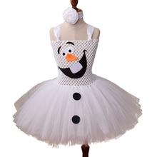 فستان أطفال من ثلج أولاف لطيف الأميرة الكرة ثوب يتوهم ملكة الثلج إلسا حفلة عيد الميلاد زي للفتيات توتو