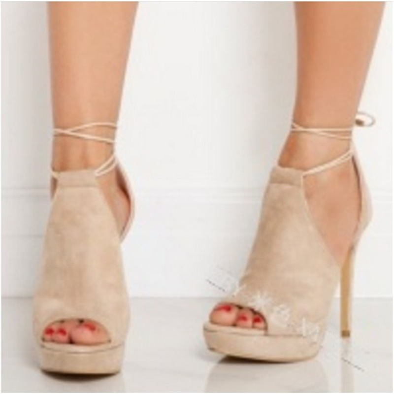 New sexy, elegant, super high heel, ankle strap, fish mouth women's sandals