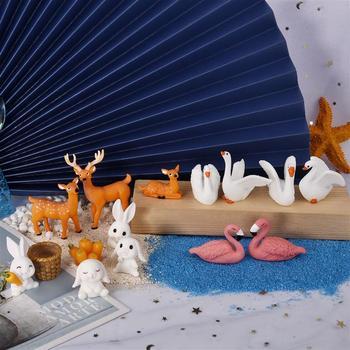 1 Set resina epoxi UV de decoración Mini conejo de bricolaje Jardín...