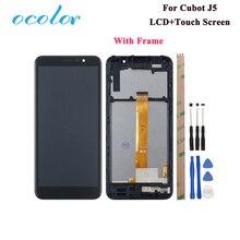 Ocolor ل Cubot J5 شاشة الكريستال السائل و شاشة اللمس 5.5 الجمعية استبدال ل Cubot J5 الهاتف مع أدوات لاصق مع الإطار