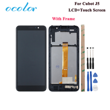 ocolor For Cubot J5 LCD Display and Touch Screen 5.5 Assembly Replacement For Cubot J5 Phone With Tools +Adhesive With Frame