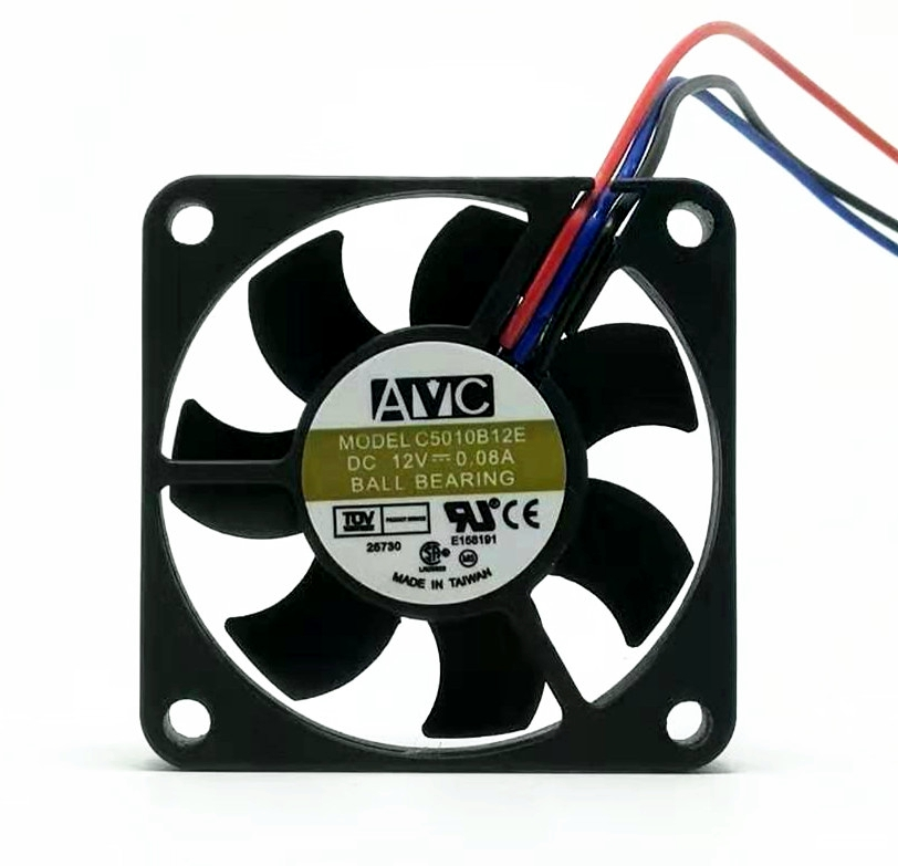 Original AVC C5010B12E 5010 12V 0.08A 5CM Ultra-thin Silent CPU Fan