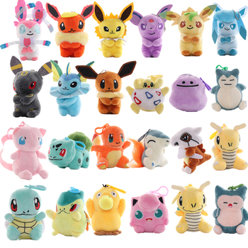 4-5'' 24Style Plush Toy Eevee Charmander Bulbasaur Squirtle Snorlax Lapras Soft Stuffed Animals Doll Gifts For Kids