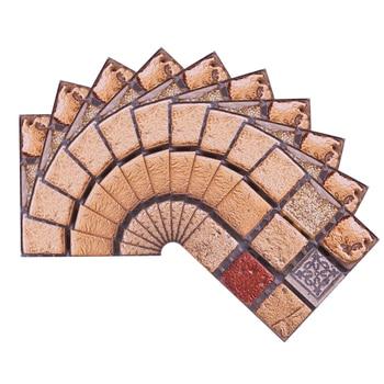 10*10cm Mosaic Self Adhesive Tile Wall Stickers Vinyl Bathroom Kitchen Home Decoration DIY PVC Stickers Decals Wallpaper 10pcs 6