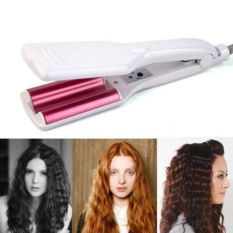 Onda de Cerâmica Ferro de Ondulação de Cerâmica Cabelo Ferros Rolo Varinha Onda Vacilar Barril Triplo Curler Styling Tools Hair Estilor