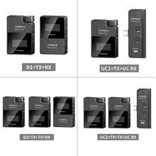Comica BoomX D 무선 마이크, 트랜스포트 키트, 미니 수신기, 스마트 폰용 2.4G 디지털 비디오