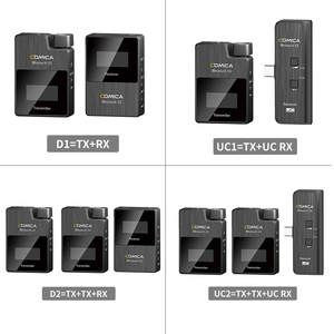 Image 1 - Comica BoomX D ميكروفون لاسلكي عدة الارسال ميكروفون صغير استقبال 2.4G الرقمية ميكروفون للهواتف الذكية فيديو هيئة التصنيع العسكري