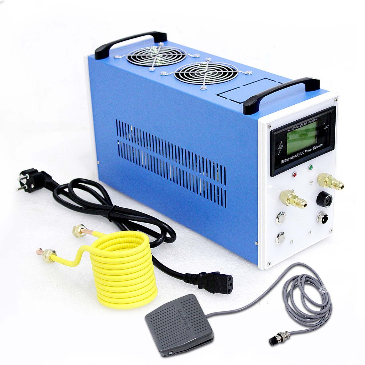 Aquecedor de Indução Máquina de Aquecimento por Indução Forno de Fundição de Metal Equipamentos + Cadinho Novo Têmpera Bobina Aquecimento 2800 w Zvs