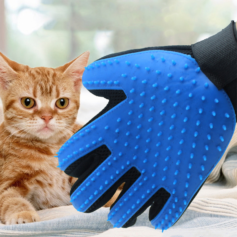 Pet Silicone Dog Brush Comb Gloves, Pet Cleaning Massage Beauty Supplies Gloves Cleaning Cat Hair Gloves Accessories