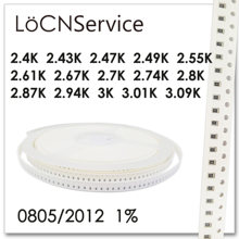 LoCNService 0805 1% 5000PCS 2.4K 2.43K 2.47K 2.49K 2.55K 2.61K 2.67K 2.7K 2.74K 2.8K 2.87K 2.94K 3K 3.01K 3.09K 2012 Resistor