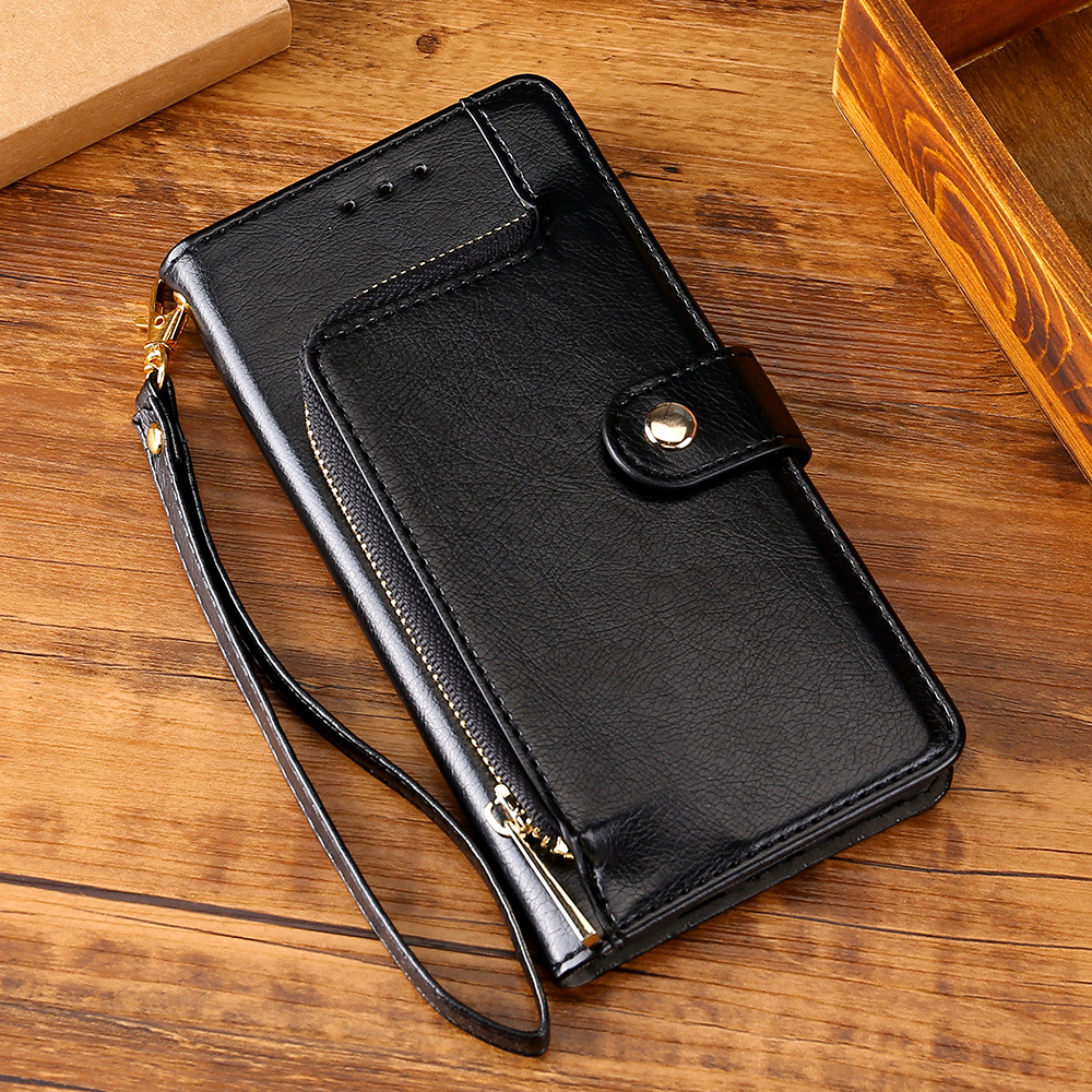 Flip case Leather Cover For Redmi 8A 4X 5 6 Note 4 4X Note 7 8 Pro 8T For Xiaomi A3 9T Note10 Pro card Slots Zipper Wallet Coque