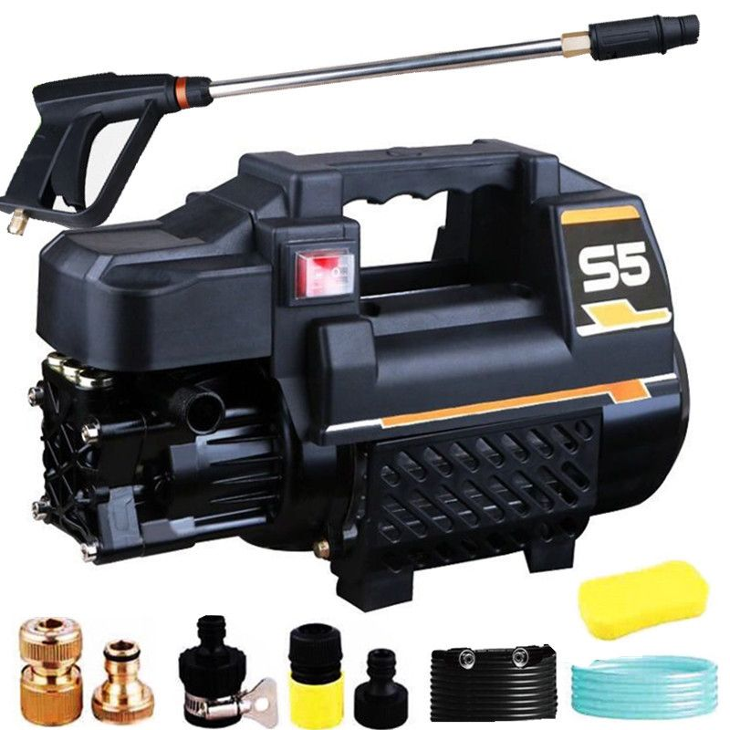 High Pressure Car Washer Household 220V High Power Portable Cleaner Fully Automatic Car Brushing Pump Water Gun