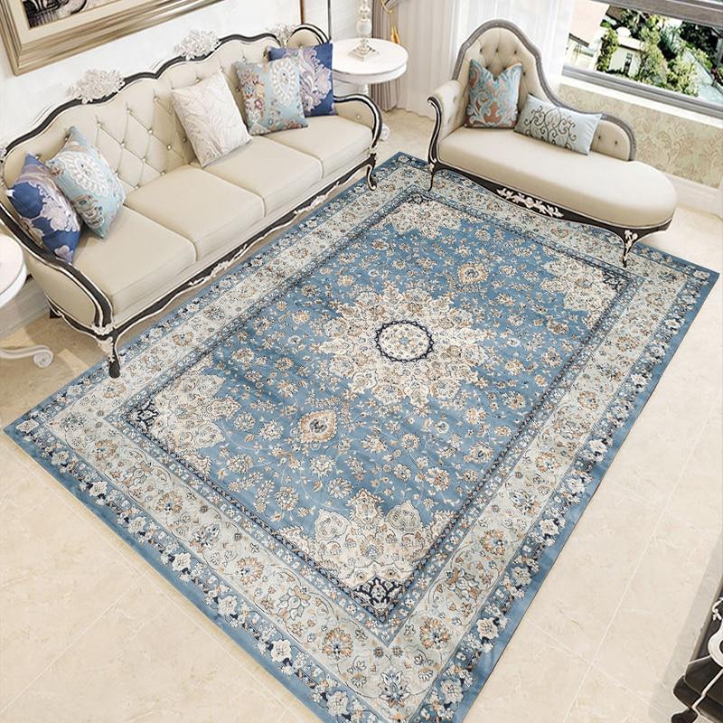 American Vintage Carpets For Living Room Persian Bedroom Carpet Sofa Coffee Table Floor Rug Study Room Area Rugs Restaurant Mat