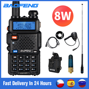 Baofeng UV 5R Walkie Talkie 10km Real 8W Two-way Radio UV-5R Portable Ham Radio UV5R Walkie-talkie FM Transceiver Amateur Radio