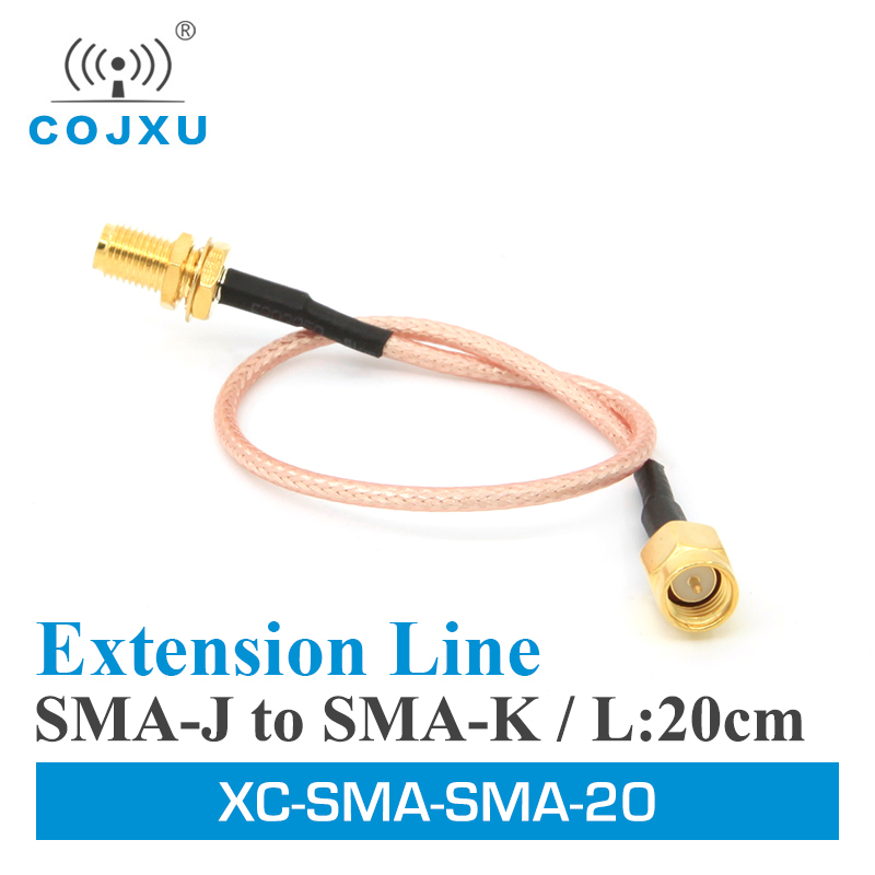 2pcs/lot Wifi Antenna Extension Cable Line 20cm XC-SMA-SMA-20 SMA Male To SMA Female Cable Connector