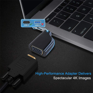 Image 5 - Adaptador de tipo C a HDMI 4K 60HZ, convertidor USB C a VGA DP Mini DP macho a hembra con estilo de llavero para MacBook 2017 Galaxy S9
