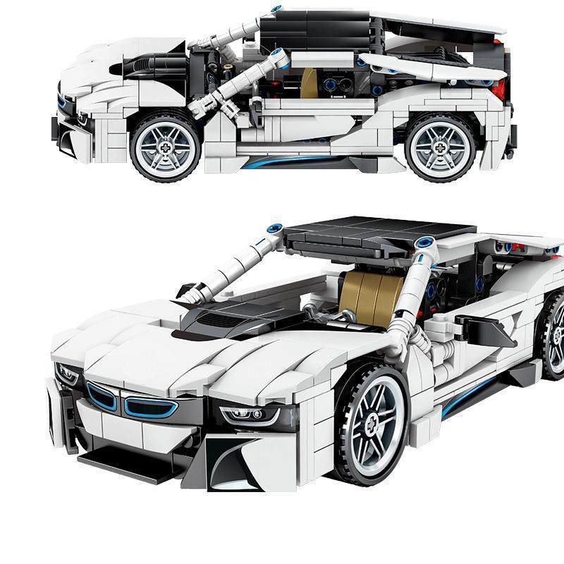 2020  Speed Racing Car BMW I8 Building Blocks Toys 701603 Technic Creator Expert Ideas Vehicles