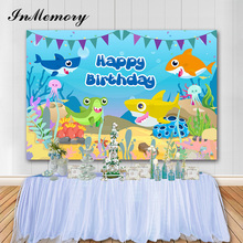 Photography Background Decorations Baby Shower Birthday-Party Underwater Inmemory Boy