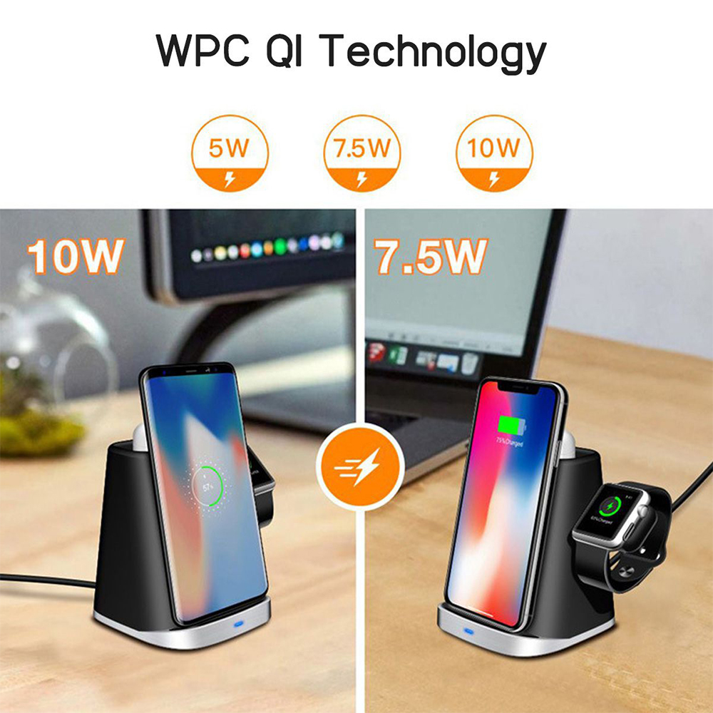 3 IN 1 For Apple Watch Magnetic Fast QI WirelessCharging For Mobile 8 Plus X XR XS S9 S8 S7 Dock Station in Phone Accessory Bundles Sets from Cellphones Telecommunications